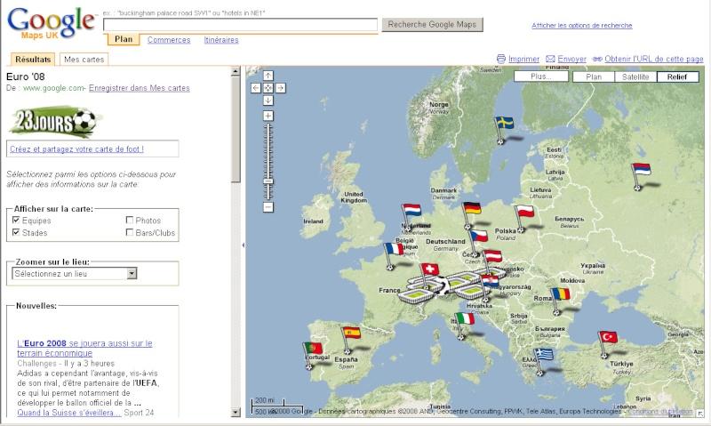 Suivez l'Euro 2008 de Football sur Google Maps Euro0810