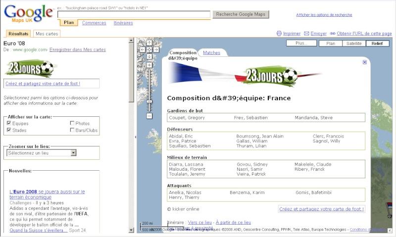 Suivez l'Euro 2008 de Football sur Google Maps Euro0811