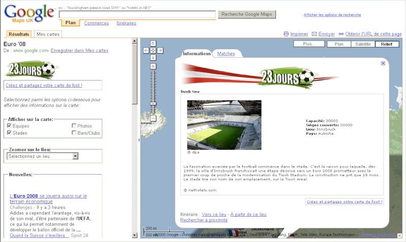 Suivez l'Euro 2008 de Football sur Google Maps Euro0812
