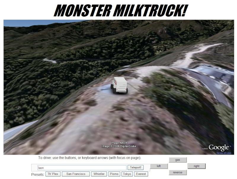 Google Earth embarqué dans des pages Web Milktr10