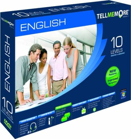 Tell Me More English v.10 All 10 Levels (Best Language Learning Software) 21450x10