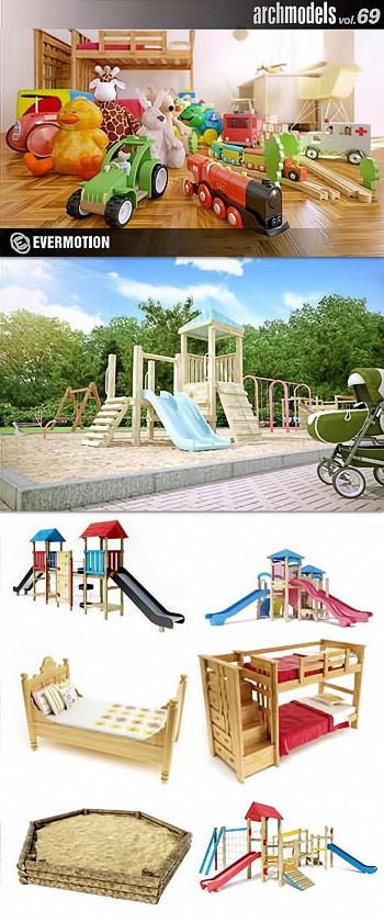 Archmodels Vol 69 - Children Playgrounds And Children Equipment 9021dc10