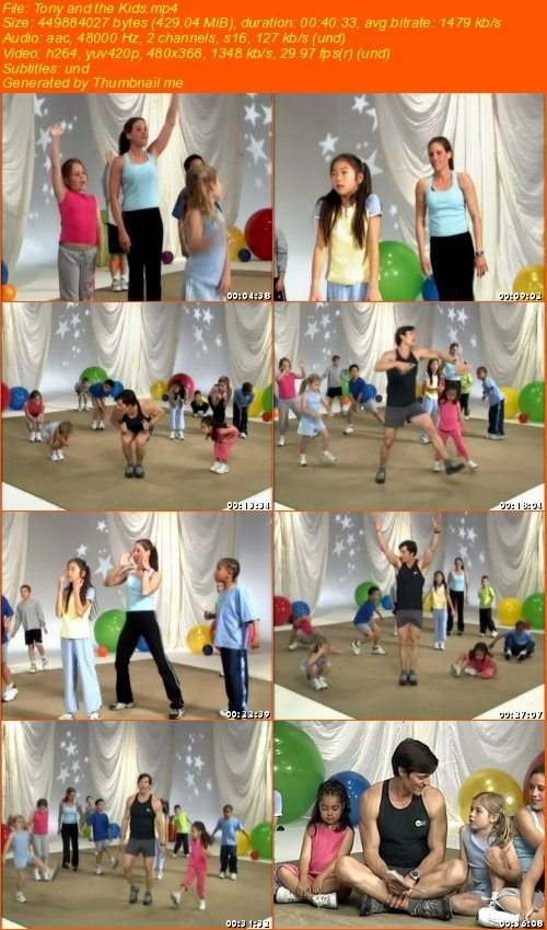Tony and the children (Fitness for kids ages 5 to 12) 9d6f5310