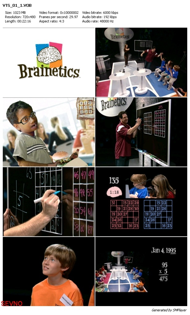 Collection of video Brainetics Deluxe Math and Memory Set 2012 - 7DVD B161ae10