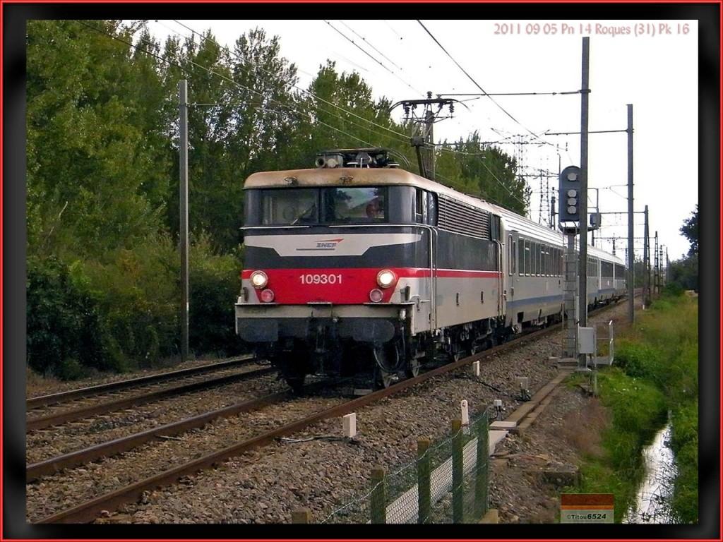 Ligne Toulouse – Bayonne: BB 9300 et autres au Pn 14  (PK 16) 2011_081