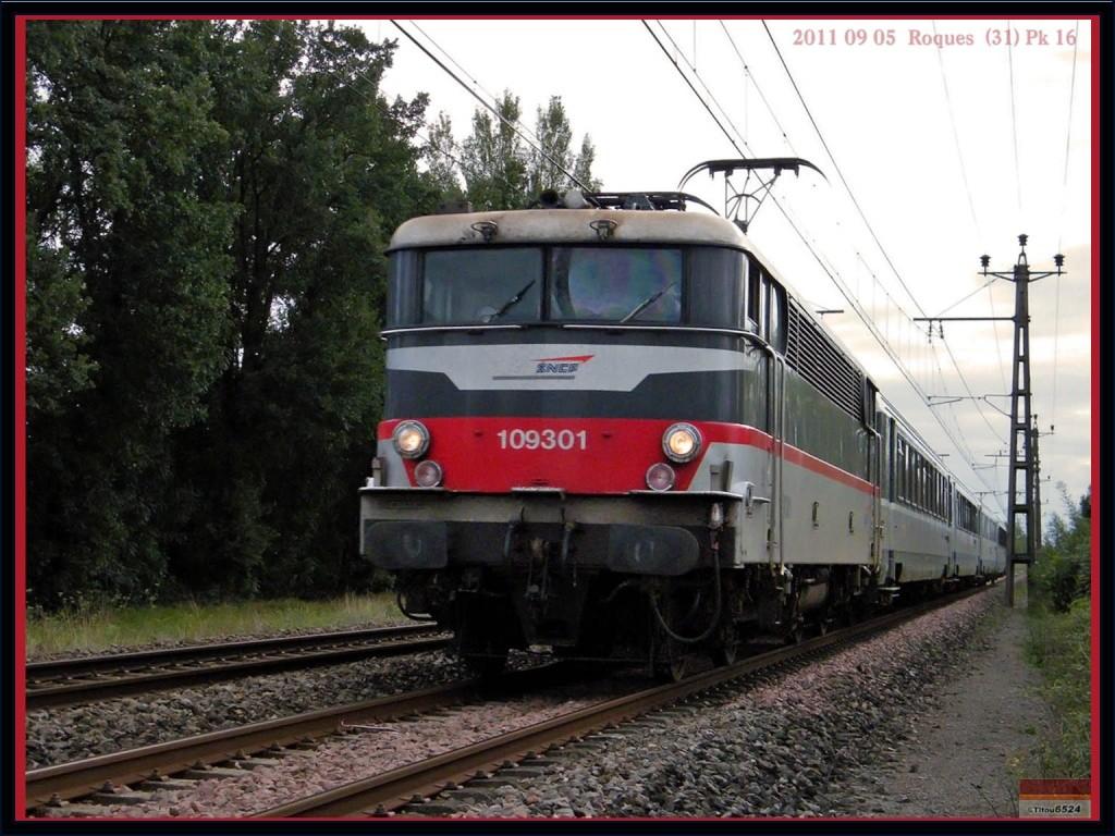 Ligne Toulouse – Bayonne: BB 9300 et autres au Pn 14  (PK 16) 2011_082