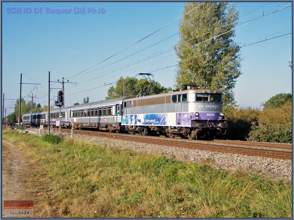 Ligne Toulouse – Bayonne: BB 9300 et autres au Pn 14  (PK 16) 2011_119