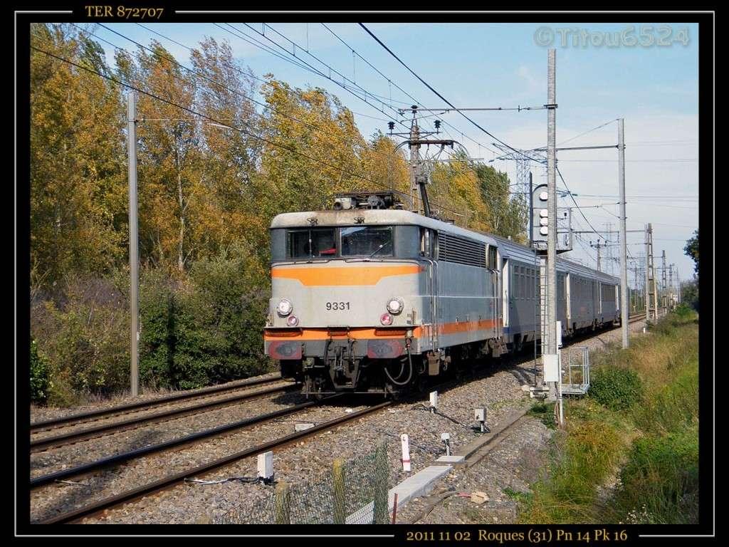 Ligne Toulouse – Bayonne: BB 9300 et autres au Pn 14  (PK 16) 2011_131