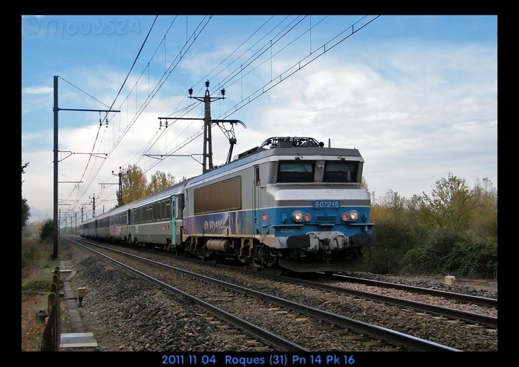 Ligne Toulouse – Bayonne: BB 9300 et autres au Pn 14  (PK 16) 2011_133