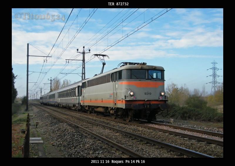 Ligne Toulouse – Bayonne: BB 9300 et autres au Pn 14  (PK 16) 2011_147