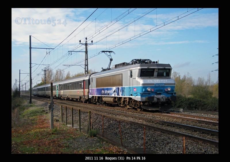 Ligne Toulouse – Bayonne: BB 9300 et autres au Pn 14  (PK 16) 2011_148