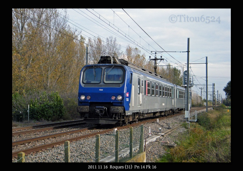 Ligne Toulouse – Bayonne: BB 9300 et autres au Pn 14  (PK 16) 2011_149