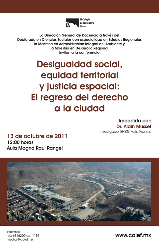 Conferencia: Desigualdad social, equidad territorial y justicia espacial Image010
