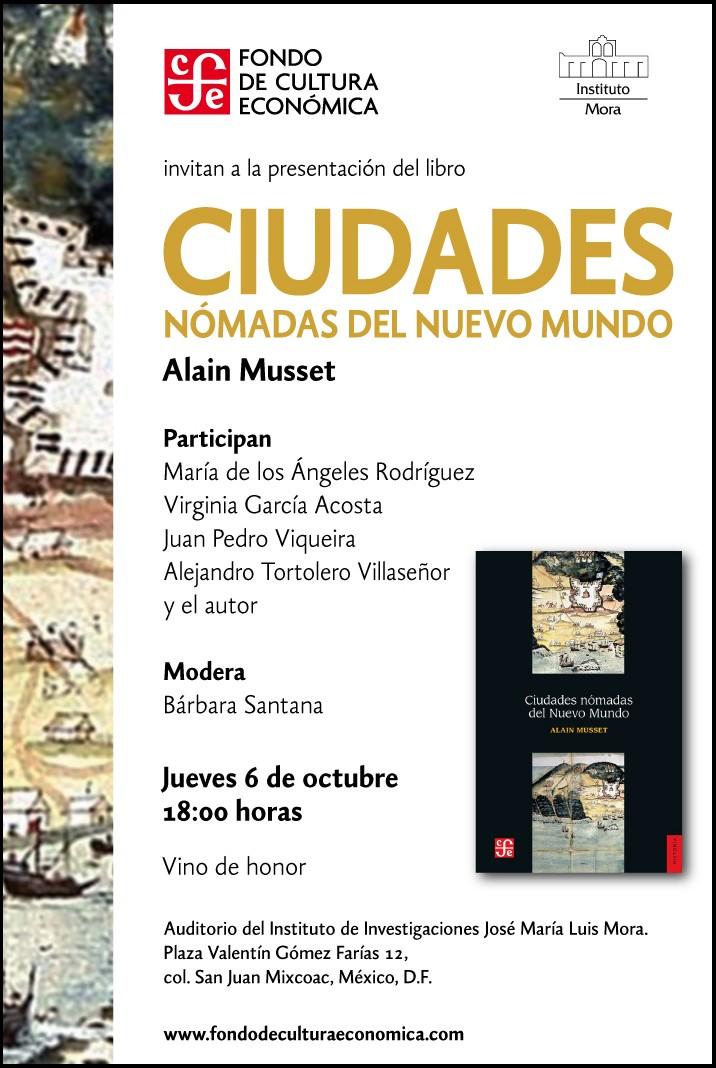 Presentación del libro Ciudades nomadas del Nuevo Mundo Mailin10