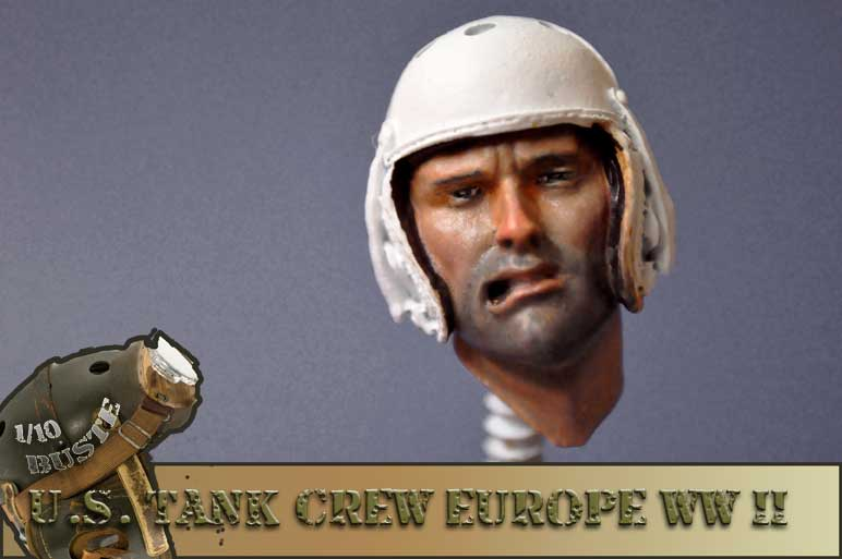 buste 1/10 us tank crew wwII young  01010