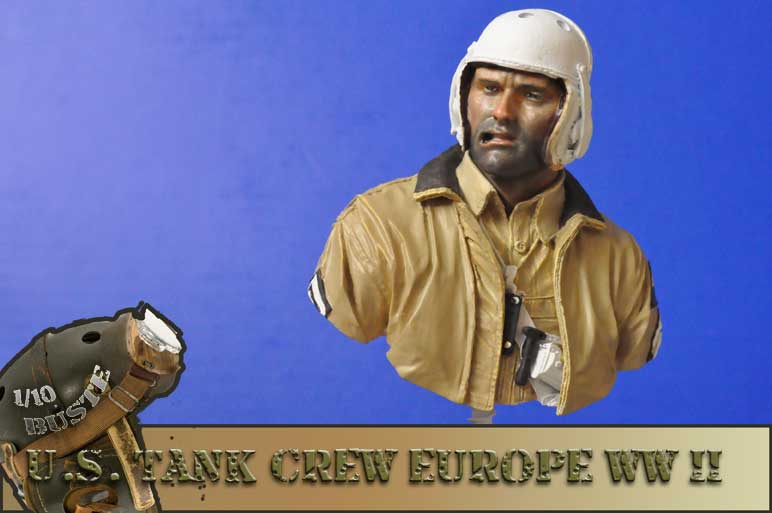 buste 1/10 us tank crew wwII young  01110