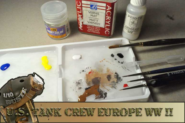 buste 1/10 us tank crew wwII young  0610
