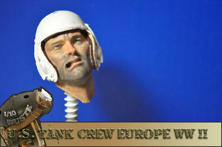 buste 1/10 us tank crew wwII young  0810