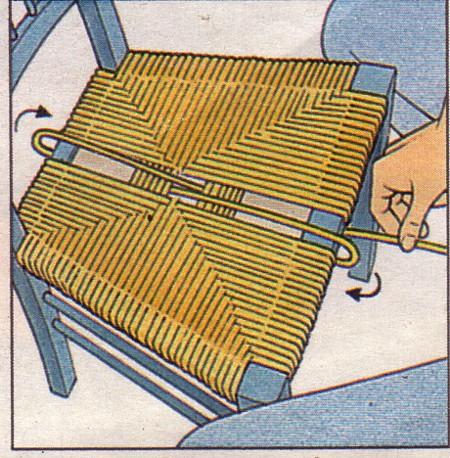 Rempailler une chaise on
