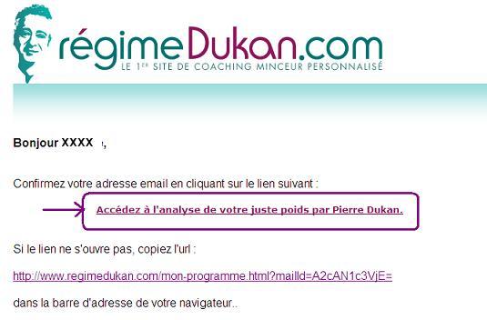 Le site de Coatching du Docteur Dukan Inscri10