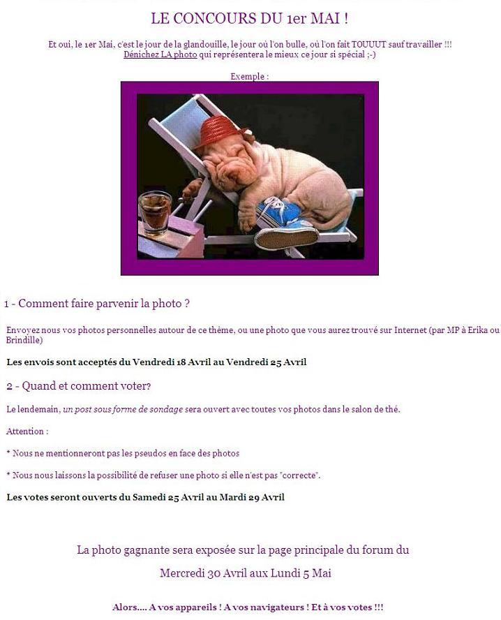 LES JEUX / CONCOURS / ACTUALITÉS DU FORUM Princi10
