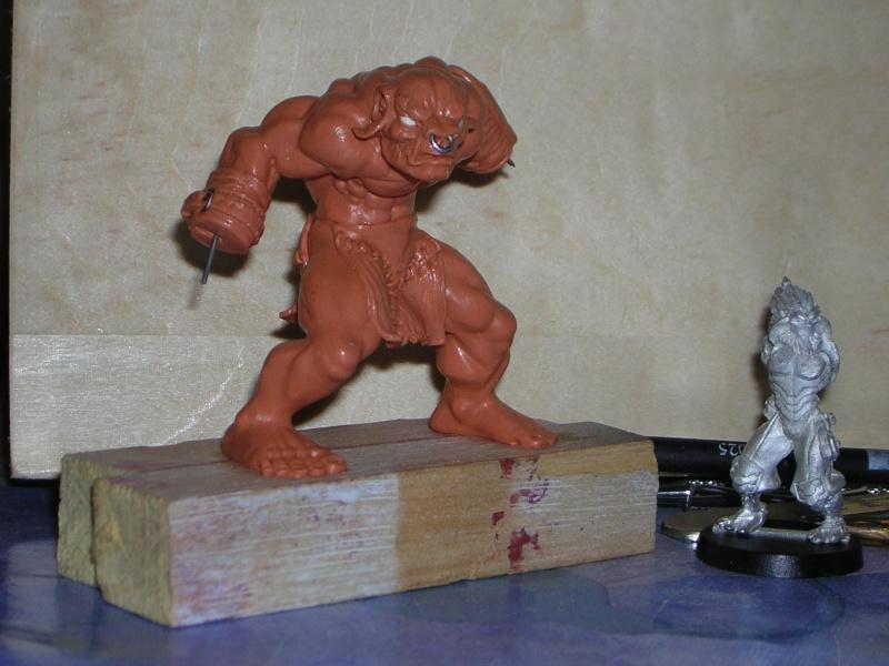Figurine minotaure / gally (gunnm) / tortue ninja Dscn5223