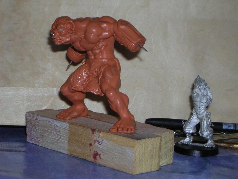 Figurine minotaure / gally (gunnm) / tortue ninja Dscn5224