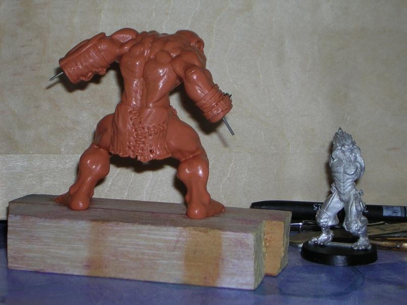 Figurine minotaure / gally (gunnm) / tortue ninja Dscn5225