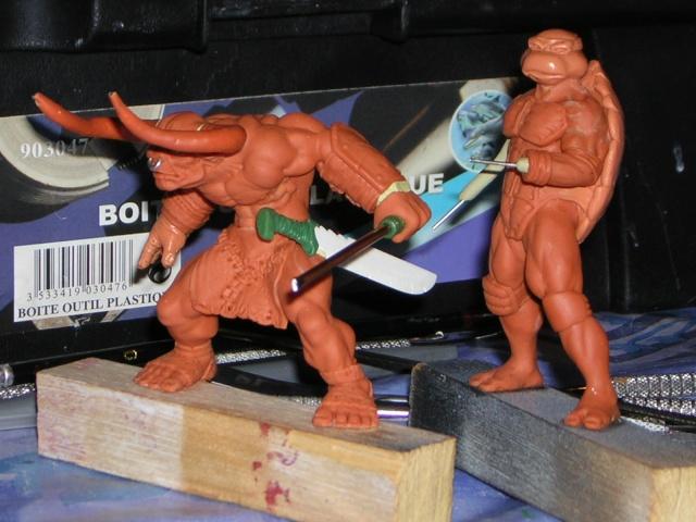 Figurine minotaure / gally (gunnm) / tortue ninja - Page 2 Dscn5241