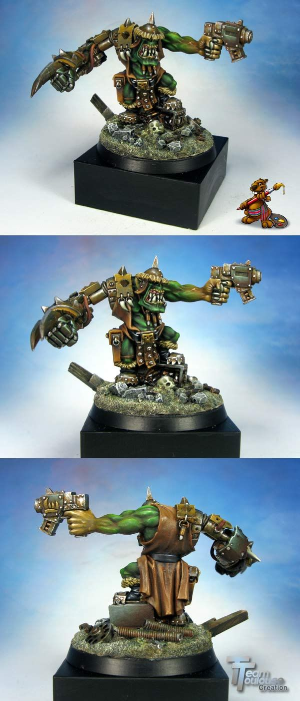 Conversion ork warhammer game day toronto figurine peinte Ork-we10
