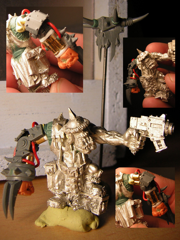 Conversion ork warhammer game day toronto figurine peinte Wip_or10