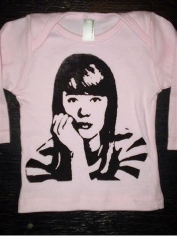 Francoise Hardy - Imprimé pour Baby T-Shirt 001_co10