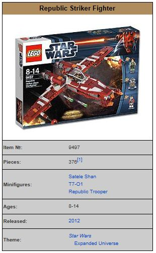 LEGO STAR WARS - 9497 - Republic Striker Starfighter  9497_010