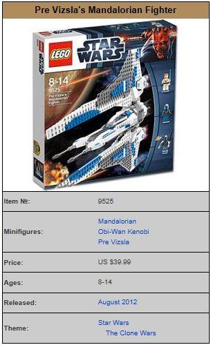 LEGO STAR WARS - 9525 - PRE VIZSLA MANDALORIAN FIGHTER 9525_010