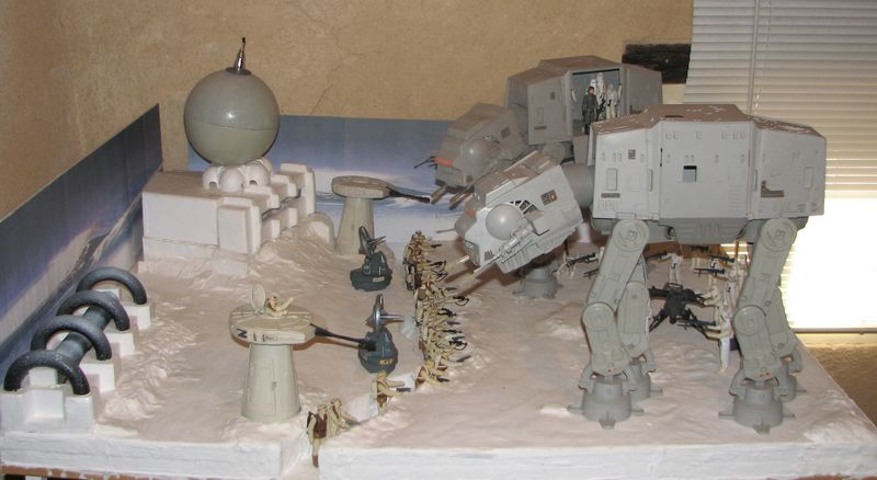 "Making of Diorama ""Hoth battle"". Star wars vintage empire contre attaque. 2_tbtt10"