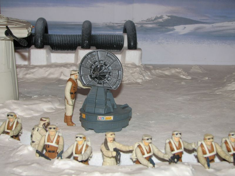 "Making of Diorama ""Hoth battle"". Star wars vintage empire contre attaque. 7_10"