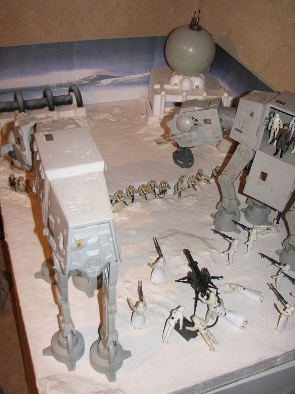 "Making of Diorama ""Hoth battle"". Star wars vintage empire contre attaque. Hoth_10"