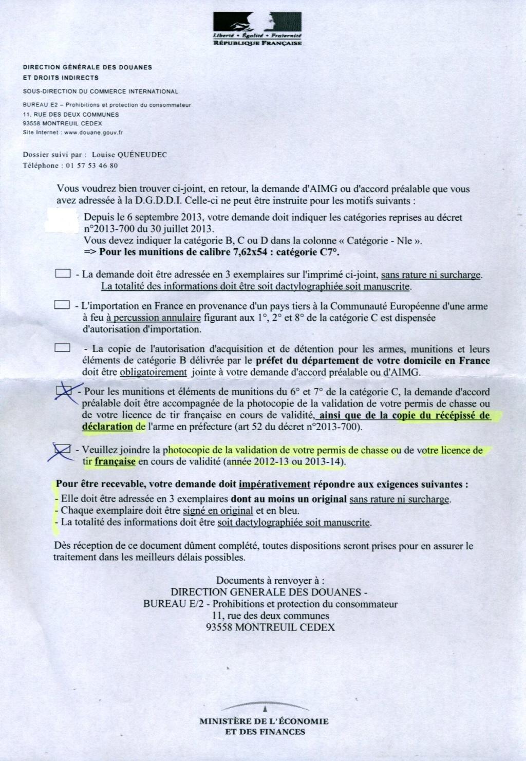 Introduction/importation d'armes, de munitions, d'éléments: du nouveau! - Page 3 Rejet110