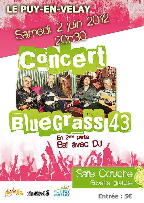 BLUEGRASS 43 en concert Samedi 2 juin au Puy-en-Velay  Concer10