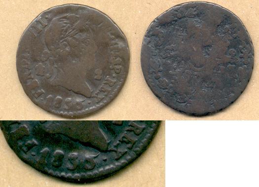 2 Maravedis de Fernando VII (Segovia, 1830) Fer_vi10