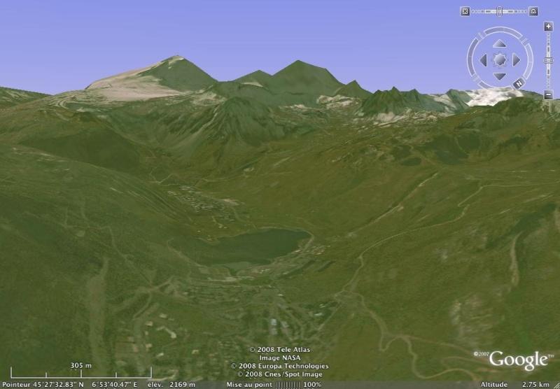 Vues de la Haute-Tarentaise par Google Earth Grande10
