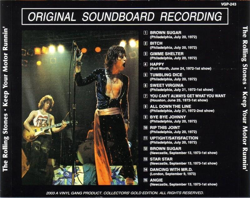 Quels sont les concerts soundboard de la période Mick Taylor ? Stones11