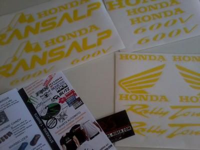 Autocollants Honda (ou personnalisables) Photo017