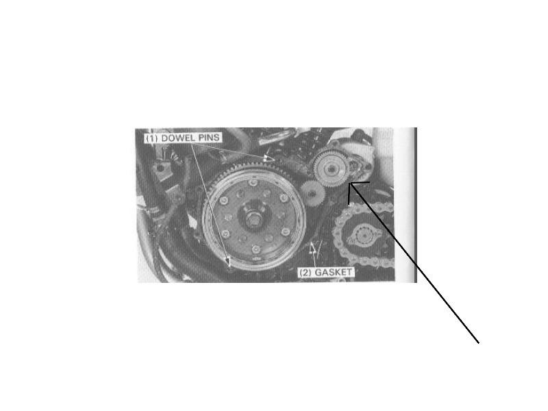 """transalp 600 : Bruit de """"ferraille"""" au lancement du démarreur (pistes possibles) Pignon10"""
