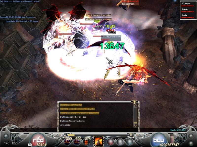 La Mejor Matanza de Mystic Mu.. Guerra de PK's vs Hero's Screen11
