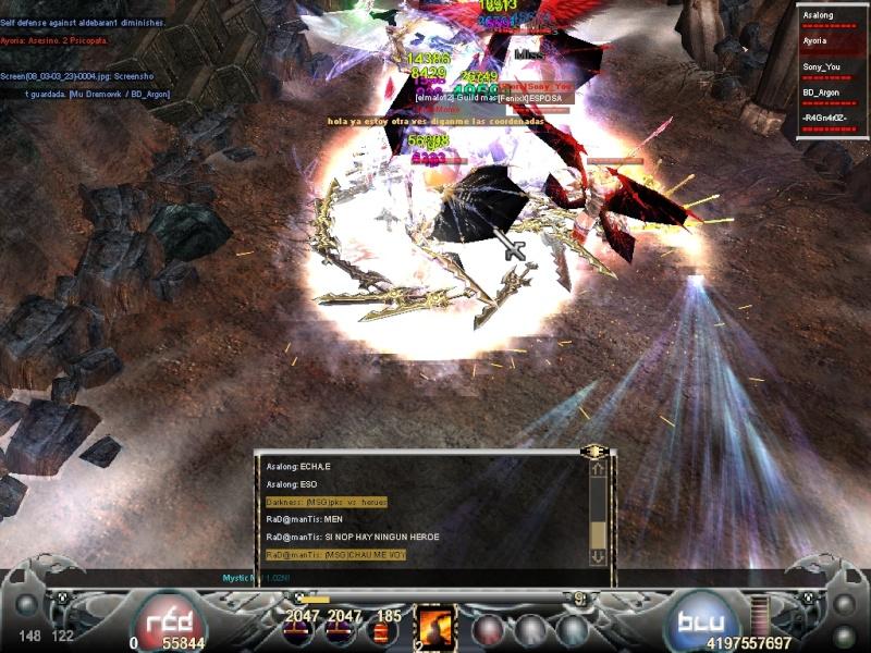 La Mejor Matanza de Mystic Mu.. Guerra de PK's vs Hero's Screen14