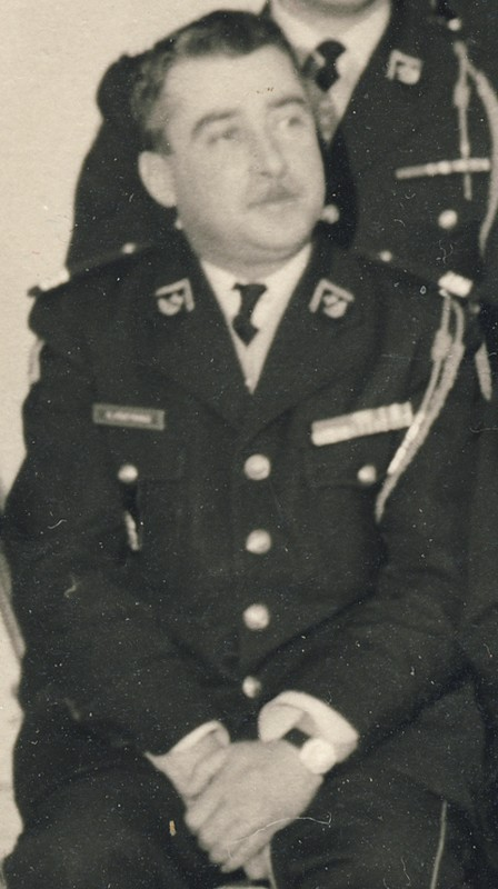 groupe d'offciers du 24e Groupe de chasseurs vers 1970 ? Entra395