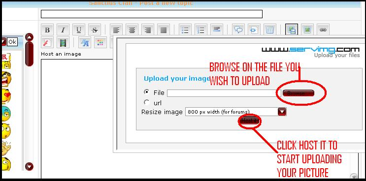 How To Upload Pictures [For SERVIMG  User] Howto210