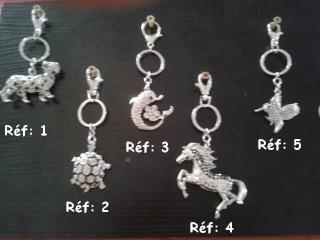 Bijoux de sac ou porte-clés pour les 4 pattes de LA COMP'ANI Collec13