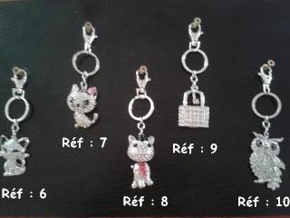 Bijoux de sac ou porte-clés pour les 4 pattes de LA COMP'ANI Collec14